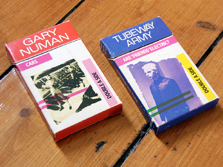 Gary Numan / Tubeway Army 1981 re-issue cassingles - pack fronts