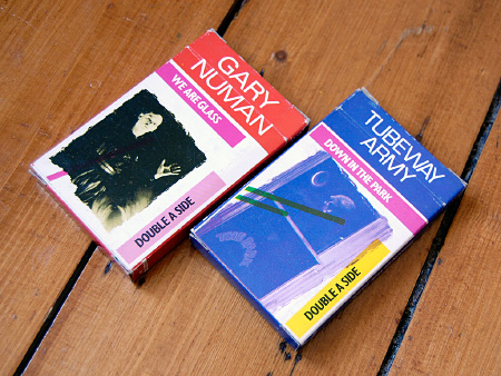 Gary Numan / Tubeway Army 1981 re-issue cassingles - pack rears