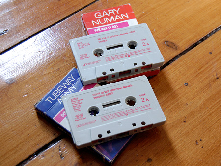 Gary Numan / Tubeway Army 1981 re-issue cassingles - cassettes B