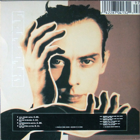 'All Night Long' Canadian CD EP rear cover