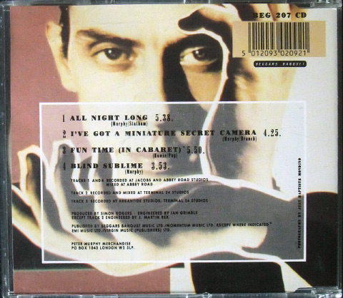 'All Night Long' UK CD single