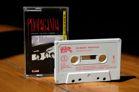 Propaganda - The Nine Lives of Dr Mabuse - cassette single shell and case - front