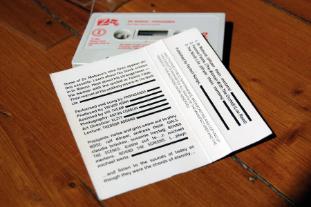 Propaganda - The Nine Lives of Dr Mabuse - cassette single inlay and shell - rear