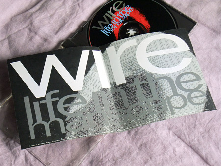 Wire - Life in the Manscape US CD insert inner spread design