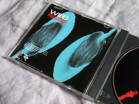 Wire - Life in the Manscape US CD insert rear design