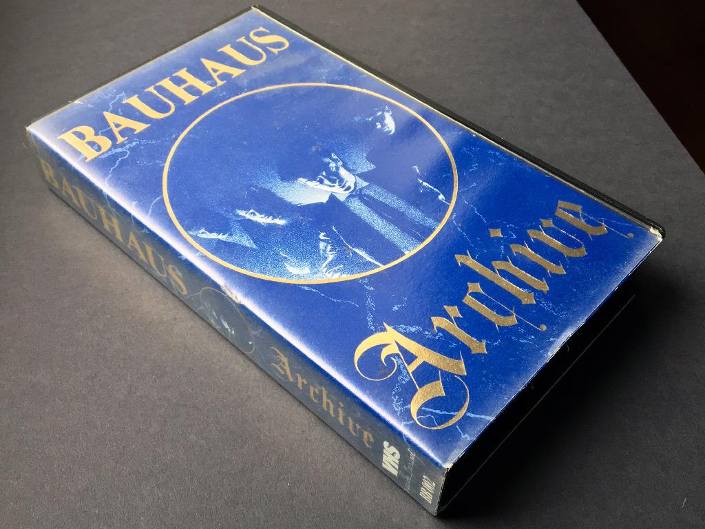 Bauhaus 'Archive' video cassette front cover design