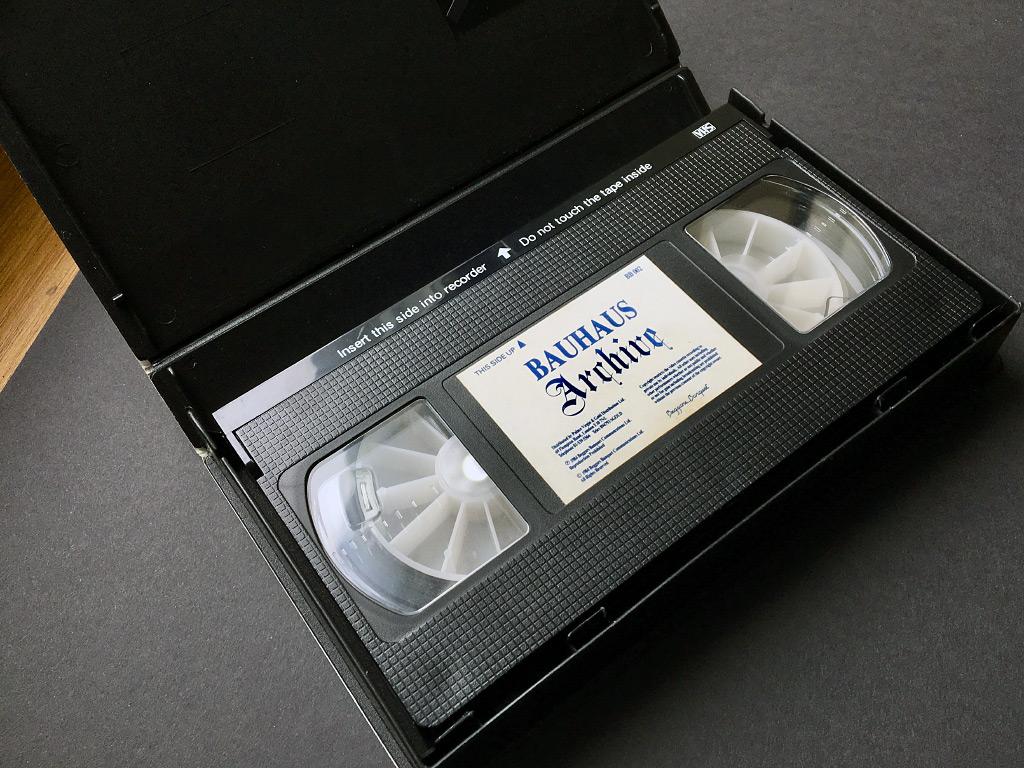 Bauhaus 'Archive' video cassette label design