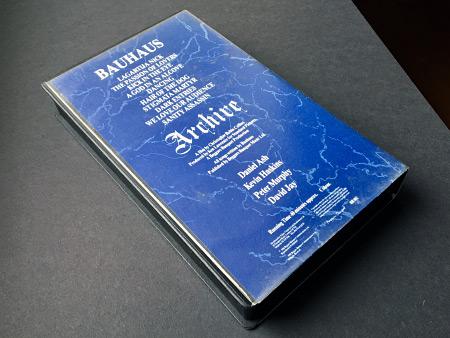 Bauhaus 'Archive' video cassette rear cover design