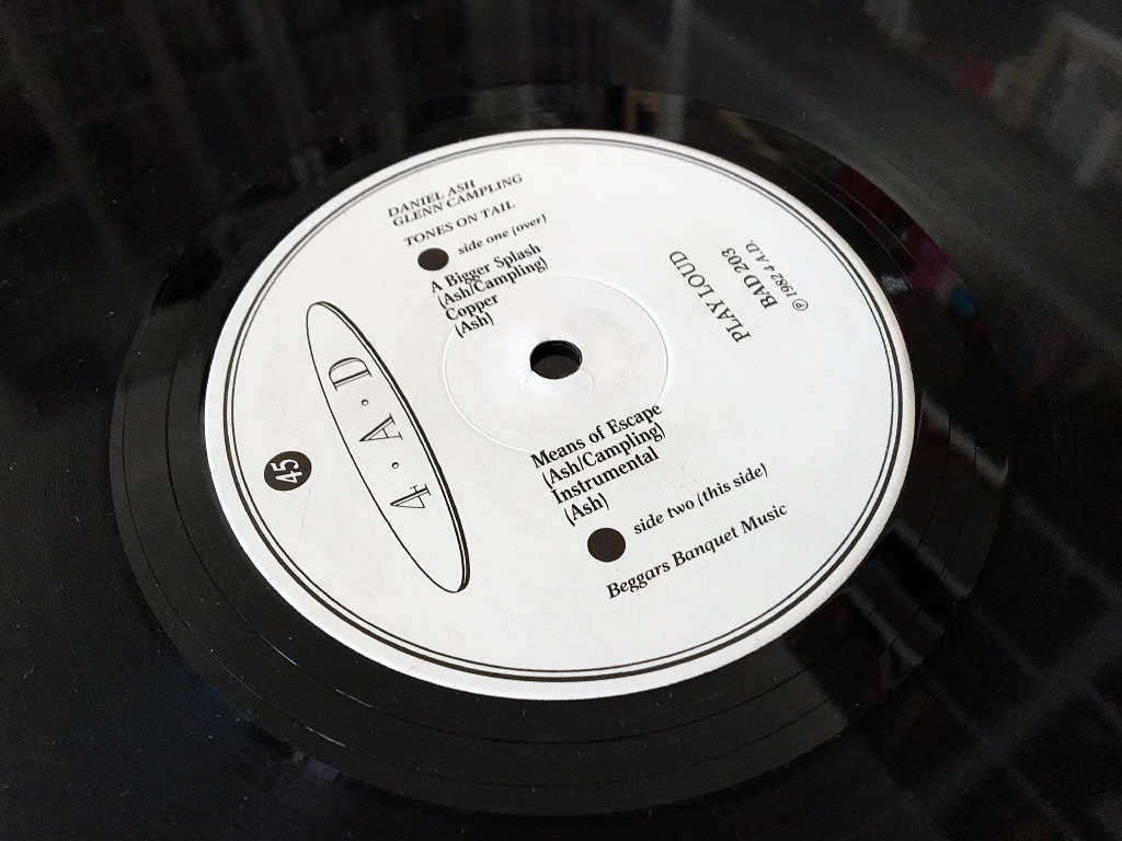 Tones on Tail EP side two label design