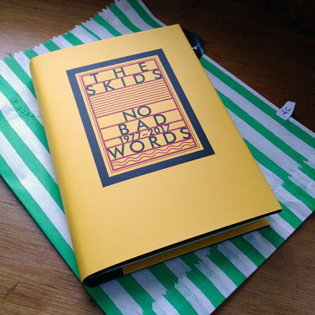 Richard Jobson 'No Bad Words 1977-2017' first edition hard back dust jacket front cover design