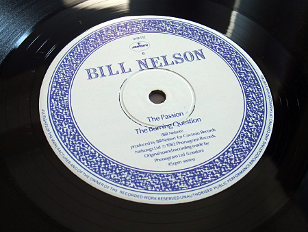 "Bill Nelson - Flaming Desire 12"" Side B label design"