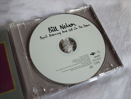 Bill Nelson 'Quit Dreaming And Get On The Beam' UK Mercury Records CD label design