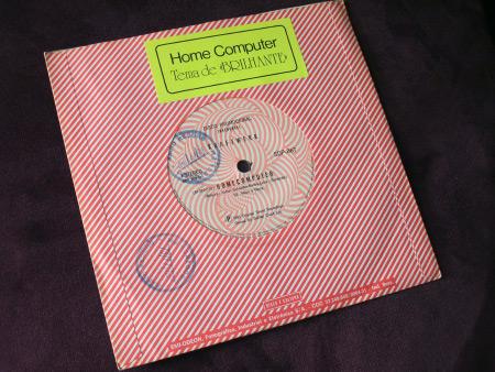 "Kraftwerk – Home Computer Promo 7"" (EMI Odeon SDP-867, 1981) rear"