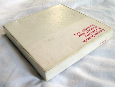 "Bill Nelson - '7"" Bill Nelson Singles' Box Set (Cocteau Records, JEAN 6) box rear"