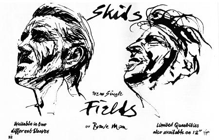 Skids 'Fields' Smash Hits magazine advert
