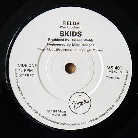 """Skids - 'Fields' 7"""" label, side A"""