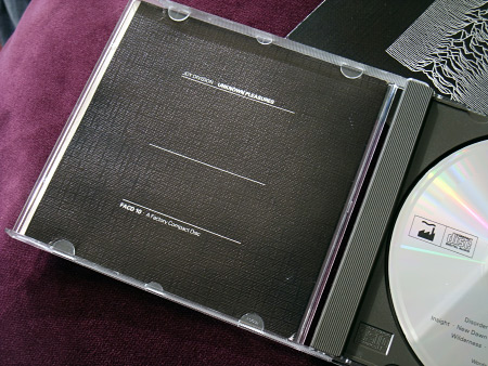 Joy Division 'Unknown Pleasures' original UK CD main insert - rear.