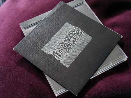 Joy Division 'Unknown Pleasures' original UK CD car carry case - front.