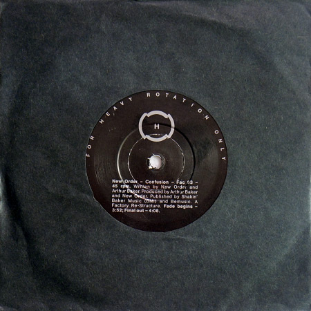 "New Order - Confusion UK promo 7"" single"