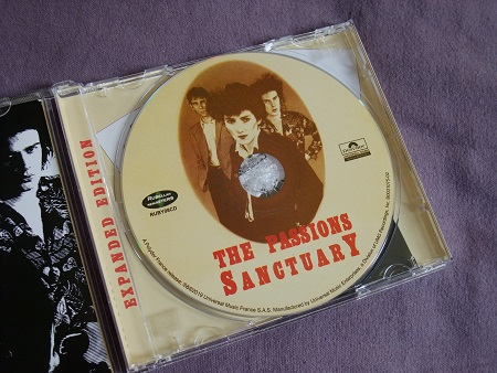 The Passions - Sanctuary CD label design.