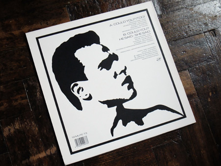 He Said - Could You? - UK 12 inch single rear sleeve design.