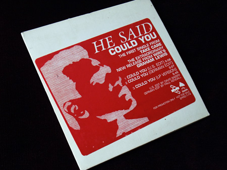 He Said - Could You? - US Promo CD single front sleeve design.