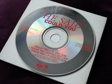He Said - Could You? - US Promo CD single disc label design.