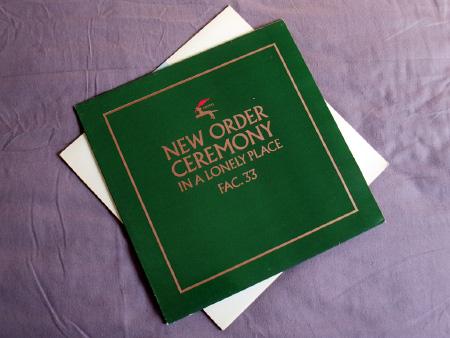 New Order - Ceremony - 1981 UK 12 inch version 1 original front sleeve design.