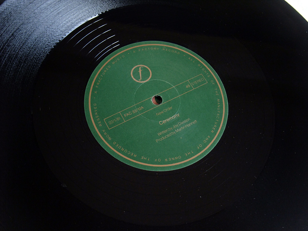 New Order - Ceremony - 1981 UK 12 inch version 1 original label side A.