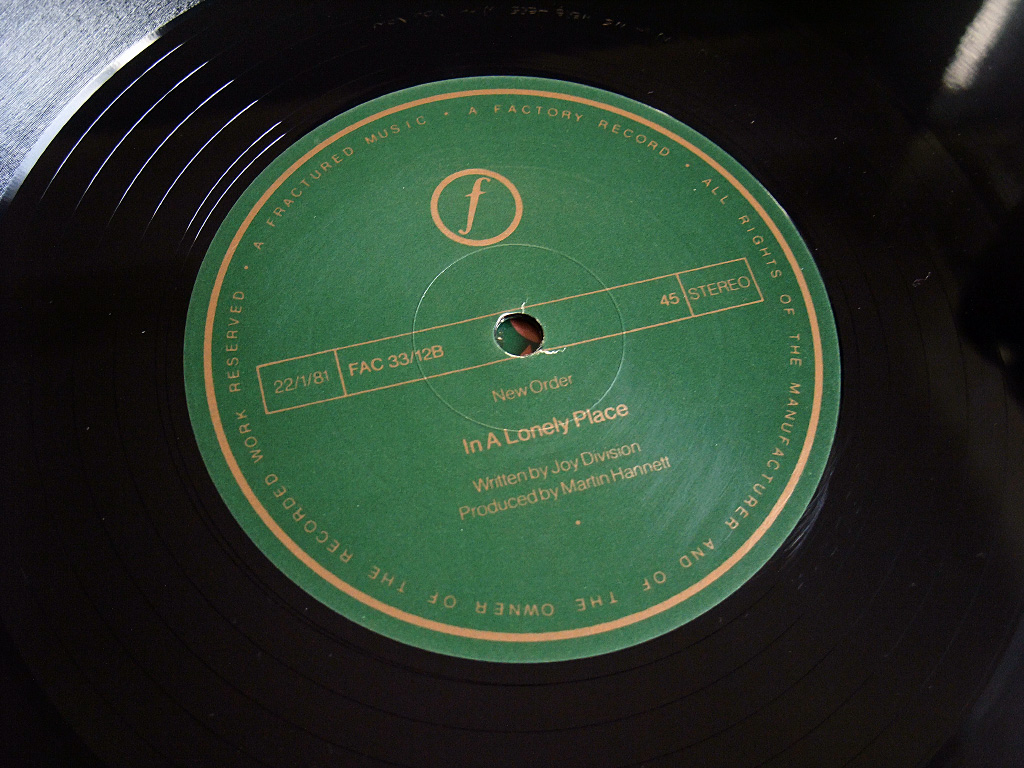 New Order - Ceremony - 1981 UK 12 inch version 1 original label side B.