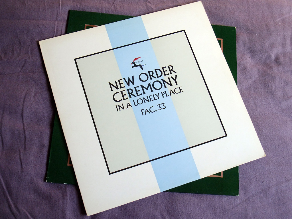 New Order - Ceremony - 1981 UK 12 inch version 2 original front sleeve design.