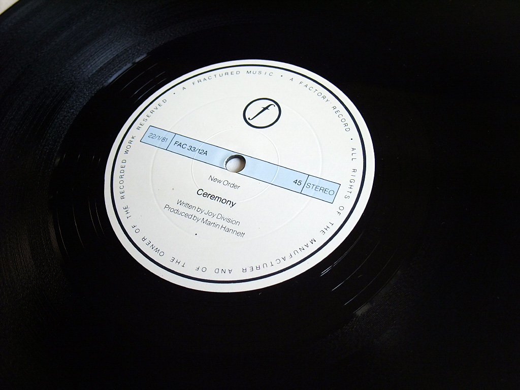 New Order - Ceremony - 1981 UK 12 inch version 2 original label side A.