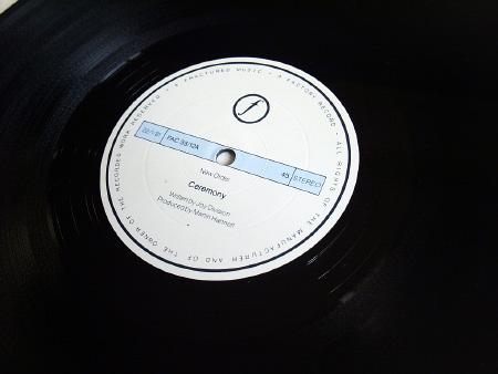 New Order - Ceremony - 1981 UK 12 inch version 2 original label side A.