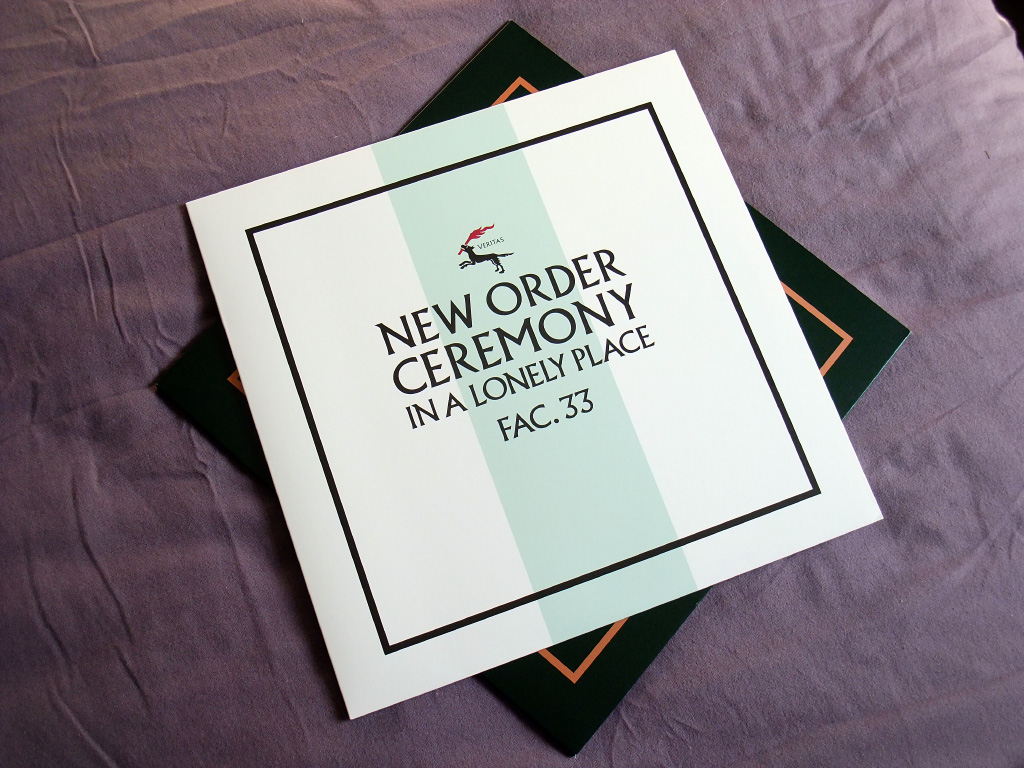 New Order - Ceremony - 2019 UK 12 inch version 2 re-issue front sleeve design.