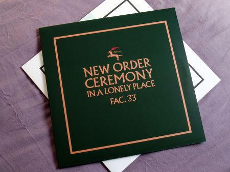 New Order - Ceremony - 2019 UK 12 inch version 1 re-issue front sleeve design.