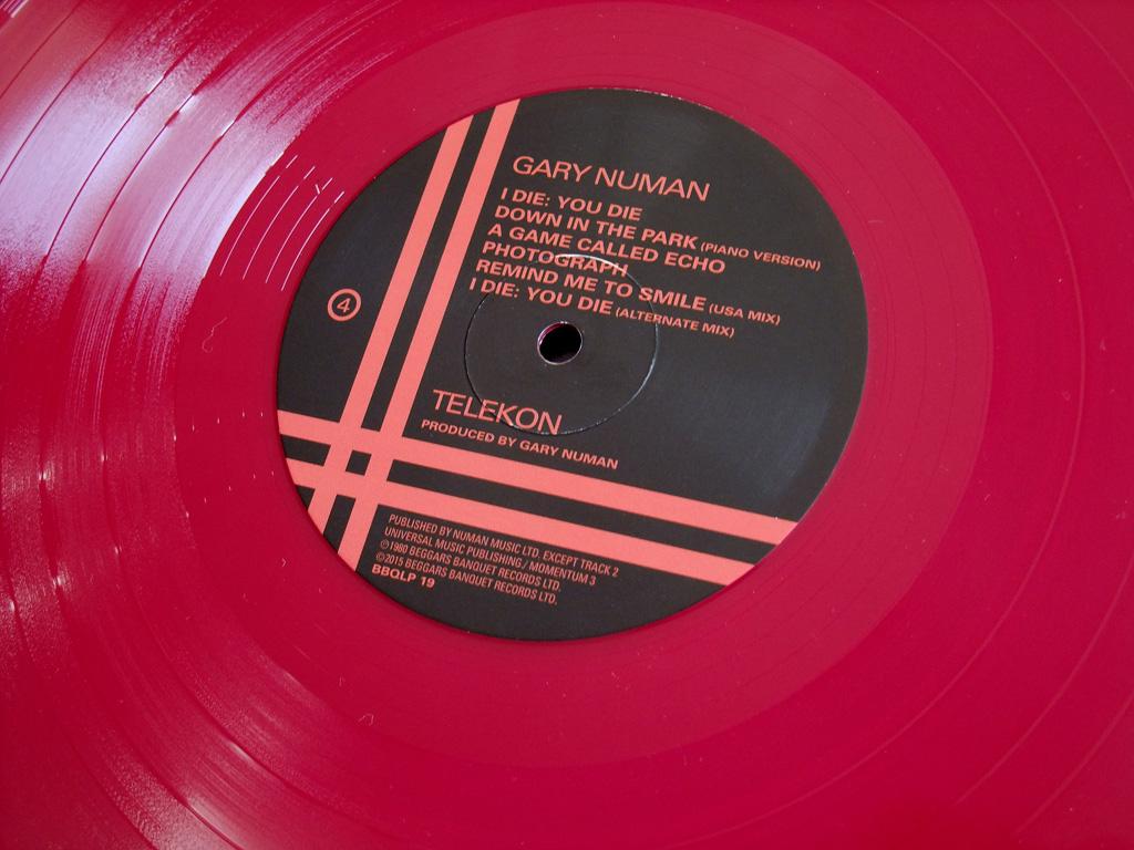 Gary Numan - 'Telekon' 2015 Double LP re-issue label design side 4