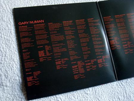 Gary Numan - 'Telekon' 2015 Double LP re-issue gatefold (left)
