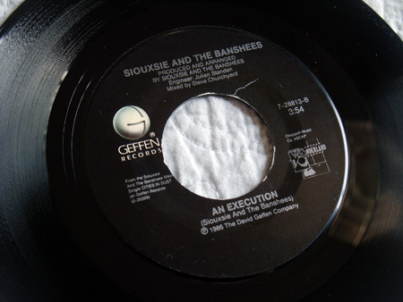 """Siouxsie and the Banshees - 'Cities In Dust' (Bob Rock Remix) US 7"""" -label side B"""
