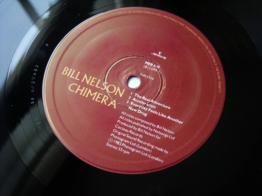 Bill Nelson - 'Chimera' UK mini album label side 1 design