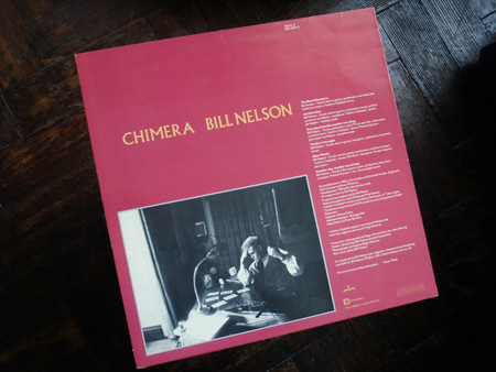 Bill Nelson - 'Chimera' UK mini album rear cover design