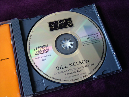 Bill Nelson - 'Chimera/Savage Gestures for Charms Sake' UK CD - disc label design