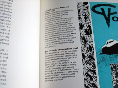 The Graphic Language of Neville Brody book - page spread example 3 - detail