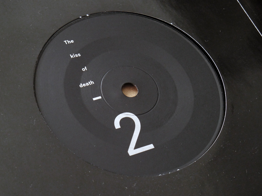 """New Order - The Perfect Kiss UK 7"""" label side 2."""