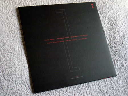 Gary Numan '80/81' Box Set - Disc 2 - 'Telekon' sleeve rear cover.