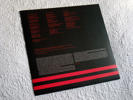 Gary Numan '80/81' Box Set - Disc 2 - 'Telekon' inner sleeve rear.