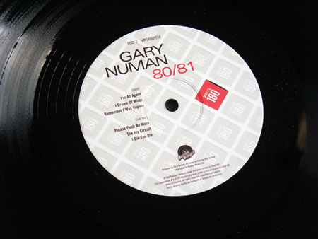 Gary Numan '80/81' Box Set - Disc 2 - 'Telekon' label side 2.