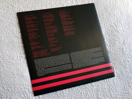 Gary Numan '80/81' Box Set - Disc 1 - 'Telekon' inner sleeve rear.