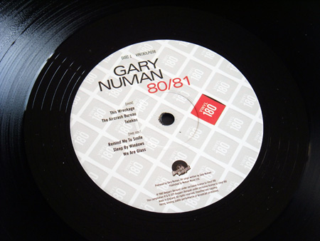 Gary Numan '80/81' Box Set - Disc 1 - 'Telekon' label side 2.