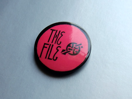 Siouxsie and the Banshees 'The File' fan club badge circa 1984/85.