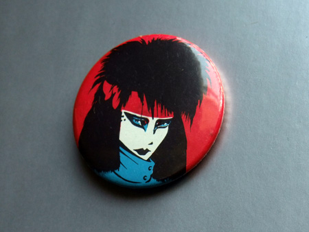 Siouxsie and the Banshees magazine giveaway badge.